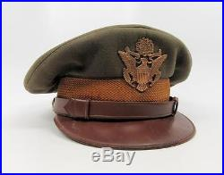 WWII Abercrombie & Fitch visor crusher cap US Army Air Corps force military hat