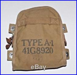 WWII Army Air Force AAF M8 Flare Pouch Type A-1 41G8920 Airplane Pilot Survival