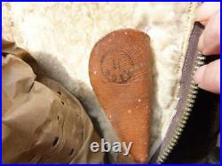 WWII British RAF Royal Air Force 1941 Pattern Irvin Flying Bomber Boots, Size 9