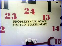 WWII-Era U. S. Army Air Force 20 24 Hour Hammond Postal Telegraph Wall Clock