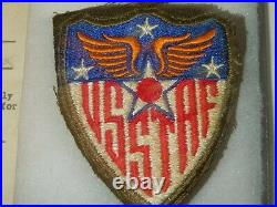 WWII USSTAF SERVICE PILOT Officer Uniform Jacket BULLION Patches NAMED Air Force