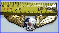 WWII US AIR FORCE APC WINGS STERLING Pilot Bomber Training Instructor Squadron