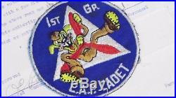 WWII US AIR FORCE Civil Air Patrol Disney Squadron Patch CAP Los Angeles Group 1