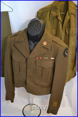 WWII US ARMY AIR 15th FORCE WW2 IKE JACKET SHIRT AND PANTS UNIFORM 1944