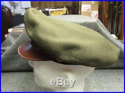 Wwii Us Army Air Force Bancroft Flighter Crusher Visor Cap-original-scarce