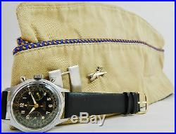WWII US Air Force B-26 Bomber Pilot Captain ACTUA Chronograph Wristwatch Working