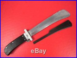 WWII US Army Air Force Folding Machete Survival Knife withGuard Cattaragus #1
