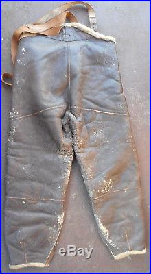 WWII US Army Air Force Leather Bomber Jacket Type D-1 Trousers Gloves