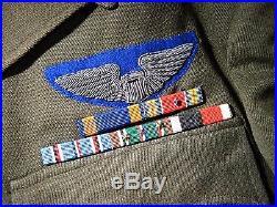 WWII US Army Air Force Officer's Uniform William Gannett USA World War 2