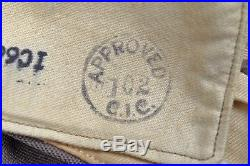 WWII U. S. 9th AIR FORCE OFFICER'S B14 JACKET withBULLION COMBAT CREW WING & PINK T