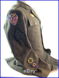 WWII WW2 AAF Army Air Force Uniform, Strategic Air Force, Named, Dog Tags, Original