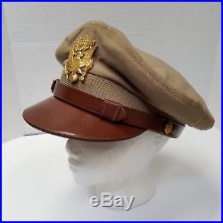 WW 2 U. S. Army Air Forces AAF Officers Original Visor Cap By Bancroft 6 7/8
