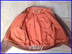 WW II TYPE A-2 Air Force leather flight jacket size 40