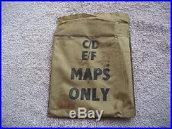 WW II US ARMY AIR FORCES ESCAPE KIT PURSE MARKED C/D/E/F WW2 ESCAPE EQUIPMENT