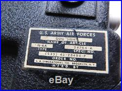 WW II US Army Air Force B-17, N-6A gun site