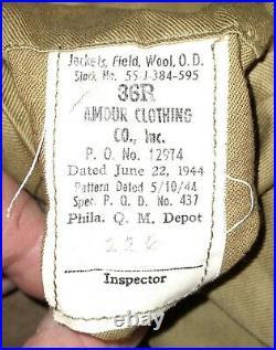 World War II Airborne Troop Carrier Ike Jacket WWII WW2 Army Air Force AAF
