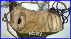 Ww2 C1942 Raf Flying Helmet With Earphones, Throat Mike, Cables Connectors Etc