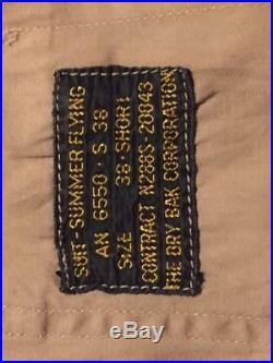 Wwii Navy Army Drybak Corp. Summer Flight Suit 38 Short Ww2 Original Air Force