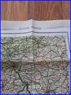 Wwii Royal Air Force Pilots Silk Escape / Evasion Map, France Europe D-day 1944