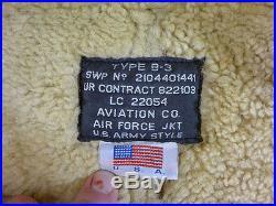 #Z52 USAF Air Force B3 Flight Jacket Schaf Fell Fliegerjacke B-3 Pilotenjacke M